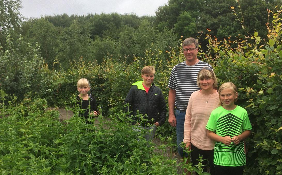 Familien Blak fra Vestjylland på besøg i Medicinhaverne.