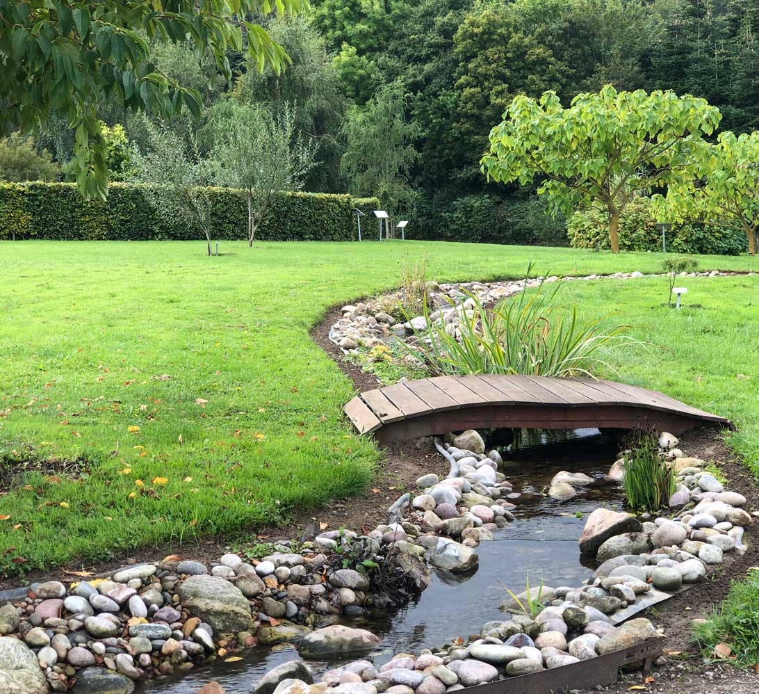 21. september 2021: Vandløbet i arboretet.